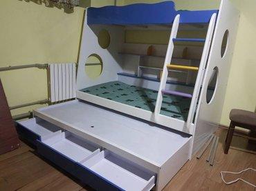 продаю 2 х ярусный кровать с матрасом.  покупала за 500 долл без матра в Бишкек