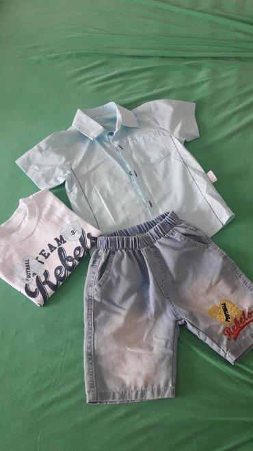 Ostala dečija odeća | Ub: Kompletic za decake ( teksas sorts, majica i kosulja). Novo, nikad