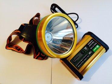 Bakı şəhərində Bas feneri- 400-500 metr isiq vurur 10-18 saat zaryadka saxlayir. 8000