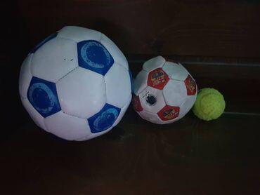 Мячи - Бишкек: Мяч синий-500 сом,красный-400 сом,теннисный -250сом,всё за 1000 сом. П