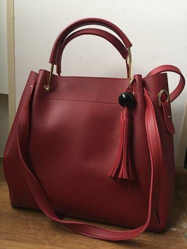 qirmizi fon - Azərbaycan: Qırmızı çanta, işlənməyib yenidir