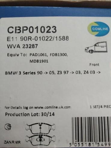 bmw-3-серия-323i-4mt - Azərbaycan: CBP01023 BMW ön əyləc qəlibi (nakladka)BMW 3 (E36)316 i1990-1998BMW 3