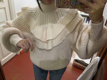 водяные теплые полы в бишкеке цена в Кыргызстан: Стильный тёплый свитер с воланами и рукавами фонарик.Размер S