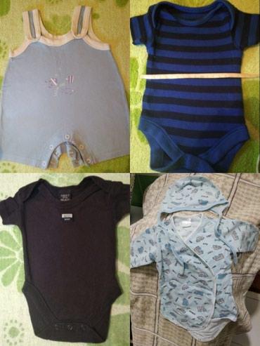 Набор боди для мальчика 0-4 месяцев + чепчик!! хб в Бишкек