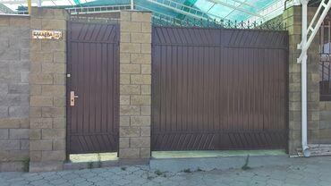 В продаже ворота +калитка +опоры.  Ворота 2,60м×3м. Калитка 1м×2.60м