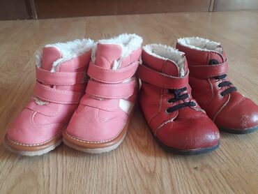 Za decu - Kladovo: Tople cizmice i cipele Oba para za 500 din. Roze su 22 a crvene br 23