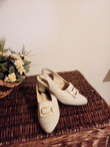 Sandale od fine jute, postavljene kozom br. 38, vrlo interesantan - Crvenka