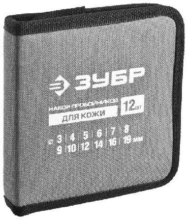 шредеры 12 в Кыргызстан: Пробойники. Набор пробойников для кожи Зубр 12 шт. 3-19 мм