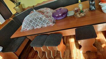 Кухонный уголок размер стола 2×90 см 4 табуретки