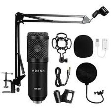 акустические-системы-archeer-с-микрофоном в Кыргызстан: Студийный набор с конденсаторным микрофоном BM800 БИшкекКонденсаторный