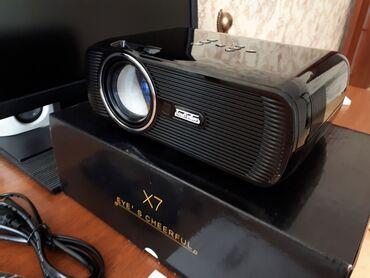 smart tv aparatı - Azərbaycan: Smart Proyektor satılırWifi AndroidHDMIVGAFLASH CARDSD CARDTVAVKalonka