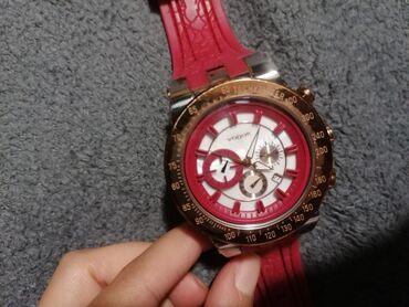 Ρολόι Vogue αυθεντικό,φουξ λουρί και gold rose στην ώρα,για παραπάνω π