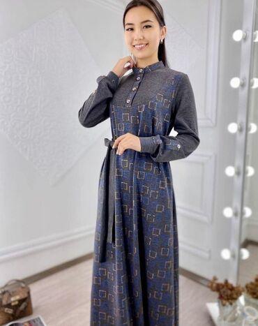 платья для женщин в Кыргызстан: Комбинированное платье  Ткань лакоста трикотаж, очень мягкая, нежная п