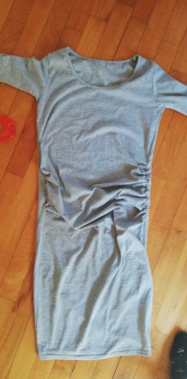 Haljine | Jagodina: Siva haljina za trudnice. Trudnicka haljina. Vel s/m. Prelepo stoji za