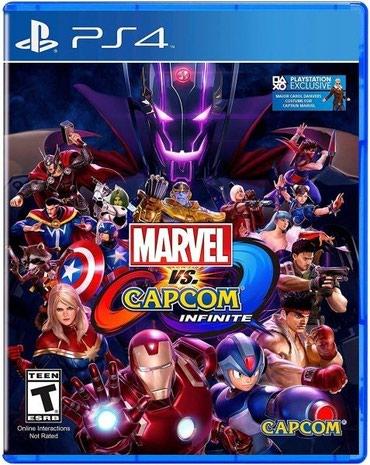Bakı şəhərində Ps4 üçün Marvel vs Capcom oyun diski satılır Yenidir bağlı upokovkada