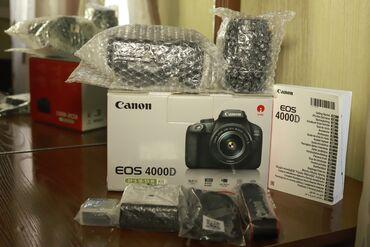 Fotoaparatlar - Bakı: Canon 4000D.Tep tezedi, 1defe olsun bele istifade olunmayıb yoxlatdira