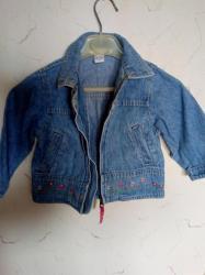 Dečija odeća i obuća | Kraljevo: Jakna teksas ocuvana za devojcice br 86. duz. 34cm