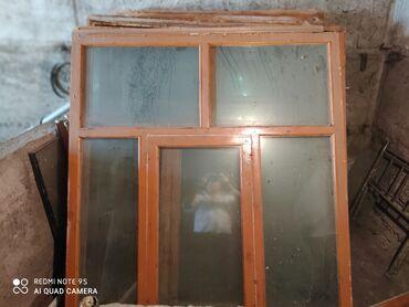 Двойное стекло. 7 штук с коробкой (рамкой)  Высота 170 см. Ширина 150
