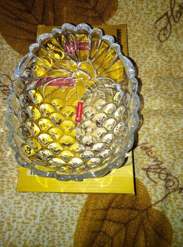 Посуда в форме ананас для конфет печенюшек новая за 100с
