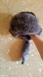 Новая детская шапка малахай 5-9лет мех кролик+эко кожа в Лебединовка