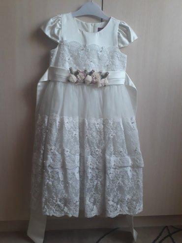 Платье на девочку, одевала несколько раз. Турция размер 4, ( 7-10) лет в Кант
