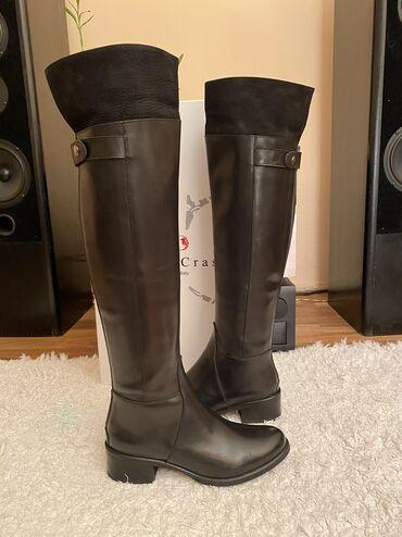 Platforme broj plisane - Srbija: Gianni Crasto cizme 37 iznad kolena kao nove jednom nosene. Koza gore