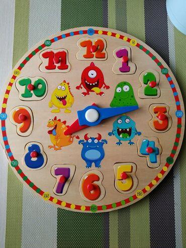 Новое Развивающие часы Для ребенка 2+ Деревянные