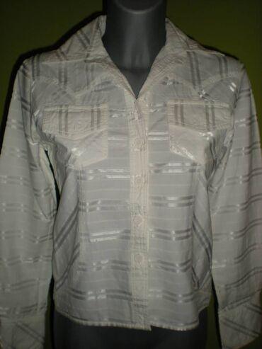 KOŠULJA  Predivna bela košulja, protkana sedefnim linijama. Blago stru