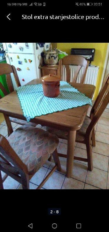 Stol na prodaju, stolice su prodane