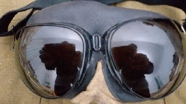 Очки авиатор Профессиональные. Оправа кожанная
