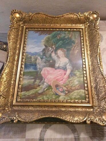 Kućni dekor - Subotica: Original,uramljeni Vilerovi gobleni 6 komada,stari 35-40 godina