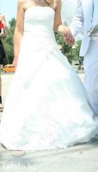 Свадебное платье одевалось один раз. в Бишкек