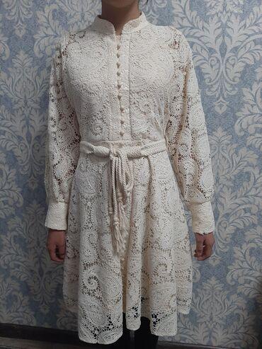 трикотаж платья в Кыргызстан: Срочно продается!Альпака Новый Платье кружева-Платье