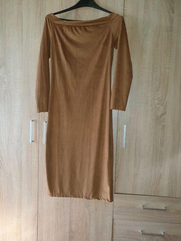 Uska haljina - Srbija: Braon haljina uska uz telo s velicina nova