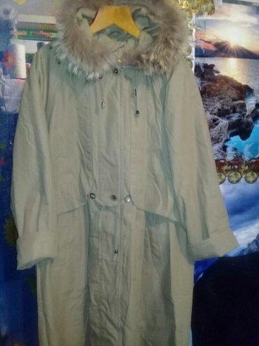 Плащ утеплённый женский р. 50-52 с копюшеном в Бишкек