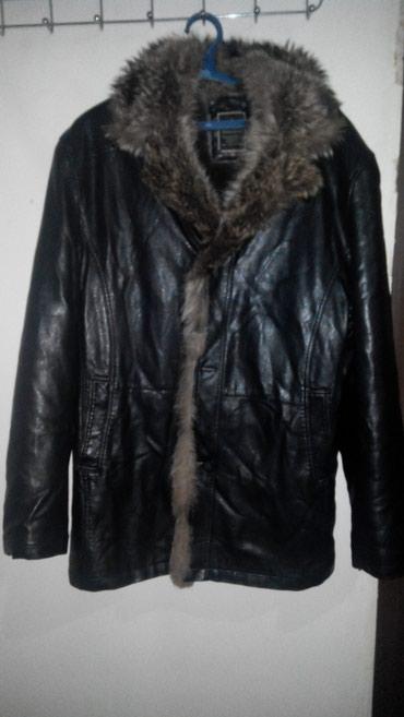 Продаю мужскую кожаную куртку . в Бишкек