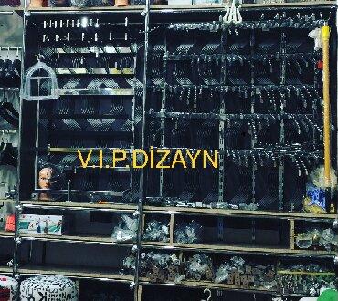 askı - Azərbaycan: Divar üçün her ölçüde xrom qara qizili askilar ve ref sistemlerinin