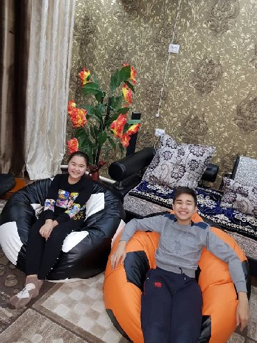 ромер кресло в Кыргызстан: Кресло мячик  Экокожа или Оксфорд  Бинбег/ Бинбеги / бинбэги / кресло