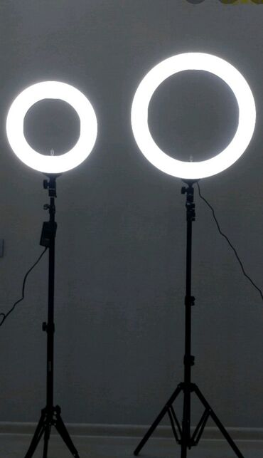 Ультра модная кольцевая лампа,Диаметр 26 см,Длина штатива 2,2.Доставка