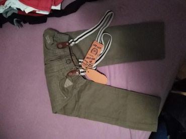 Pantalone za decaka nove, sa tregerima, vel. 5,dzemper vel. 4 kratko - Novi Sad