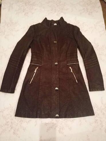 куртка в Кыргызстан: Продаю кожаный плащ, б/у, очень мягкий, качественный, фабричный пекин
