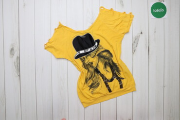 Жіноча футболка з принтом і з паєтками EDU    Довжина: 55 см Рукав: 21
