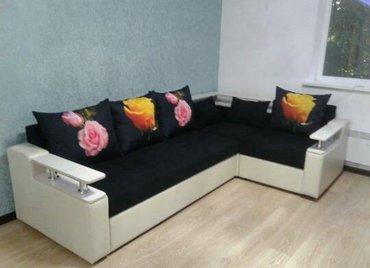 угловая кухонная мягкая мебель в Кыргызстан: Угловой диван ▪На заказ▪3d подушки ▪Цвета ткани на выбор▪Российский