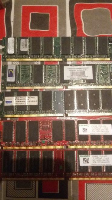 Ağstafa şəhərində 256mb +256mb+256mb+128mb+512mb Ramlar hamsi DDR 400IC