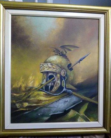 Ulje na platnu,slike su od slikara  franjo sotteli, dim. Sa ramom 64 - Beograd