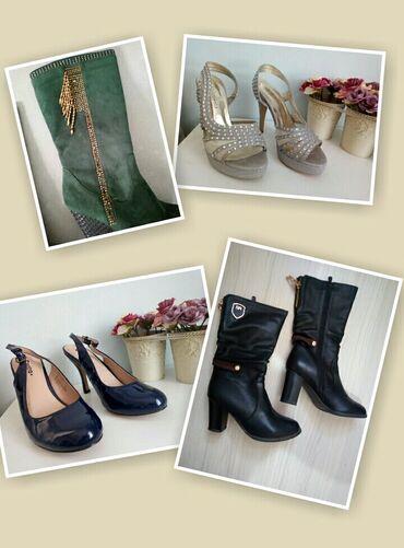 демисезонные замшевые полусапожки в Кыргызстан: Продам обувь размер 37-38. Вся обувь в отличном состоянии, надеты по