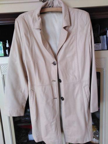 Ženska odeća | Boljevac: Kožni mantil. Drap boje