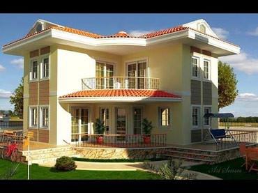 ev villa - Azərbaycan: Villa. Katedj ve evlerin tikintisi. Layihe ve smetanin hazirlanmasi