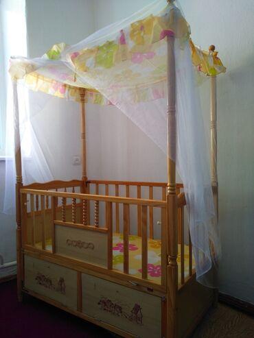 Детский мир - Нарын: Манеж деревянный. Есть люлька не собранный