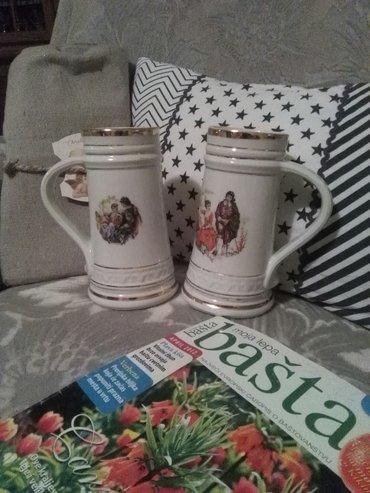 Krigle zajecar,porcelan prelepe su i ocuvane dva komada 1800 din - Sombor